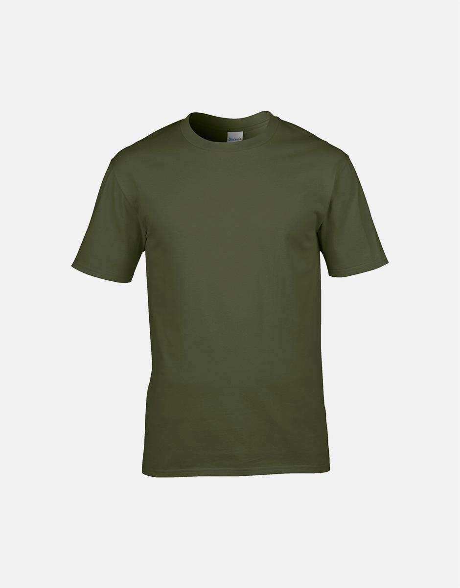 t-shirt military green